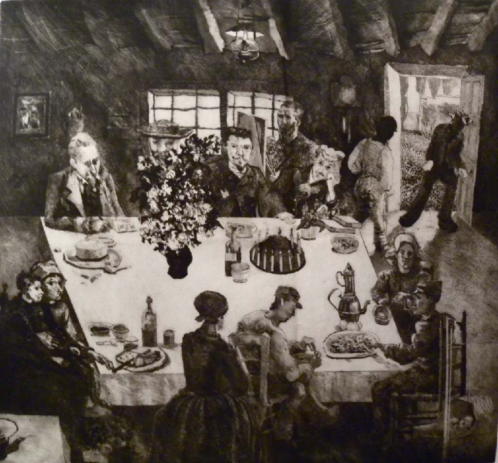 Vincent's table h.74cm x w.82cm, drypoint