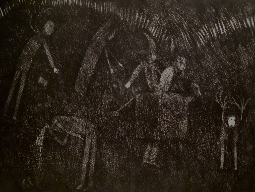 In the Seven Woods – etching