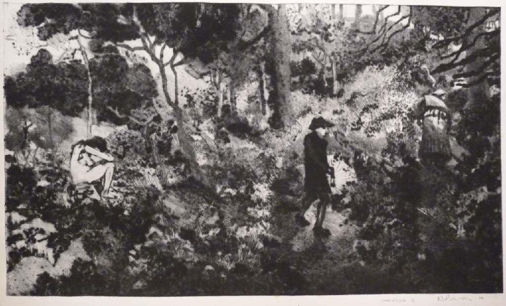 Sorrow at Snig Hole h.40cm x w.55.5cm, drypoint