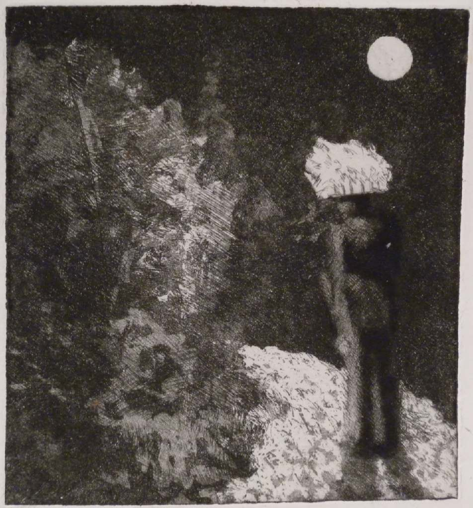 Under the Moon h.27cm x w.30.4cm, etching
