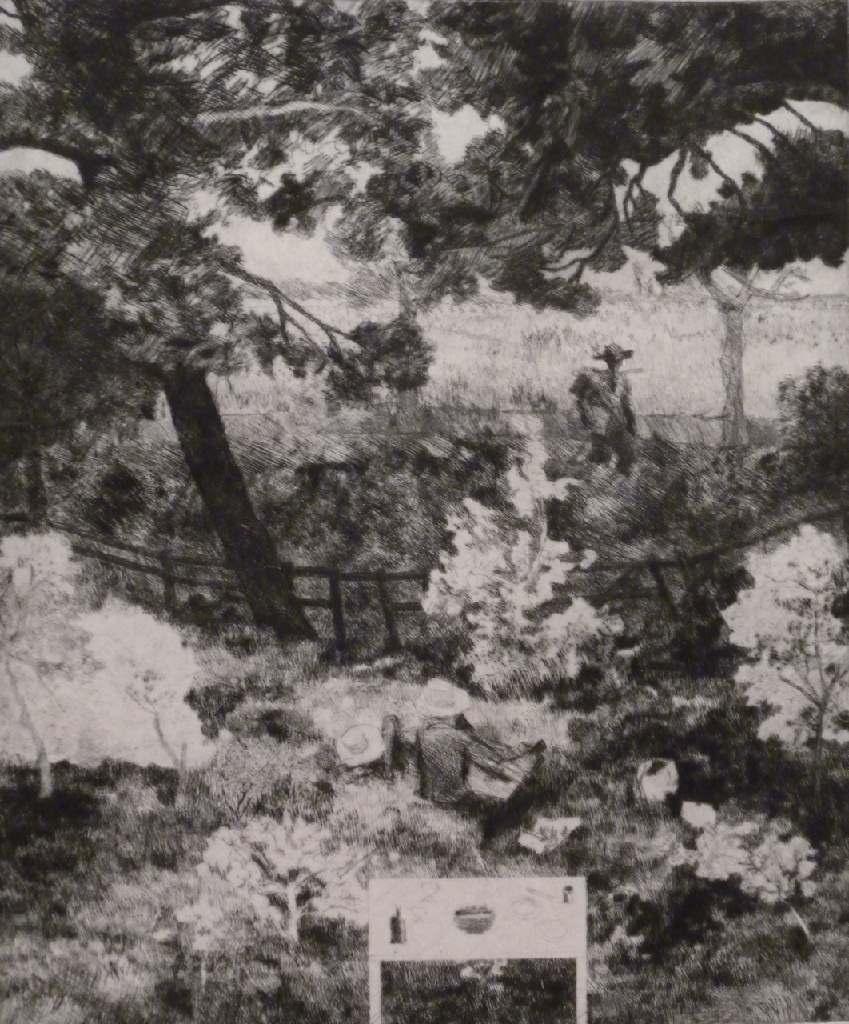 Daubigny's Garden h.58cm x w.45cm; drypoint