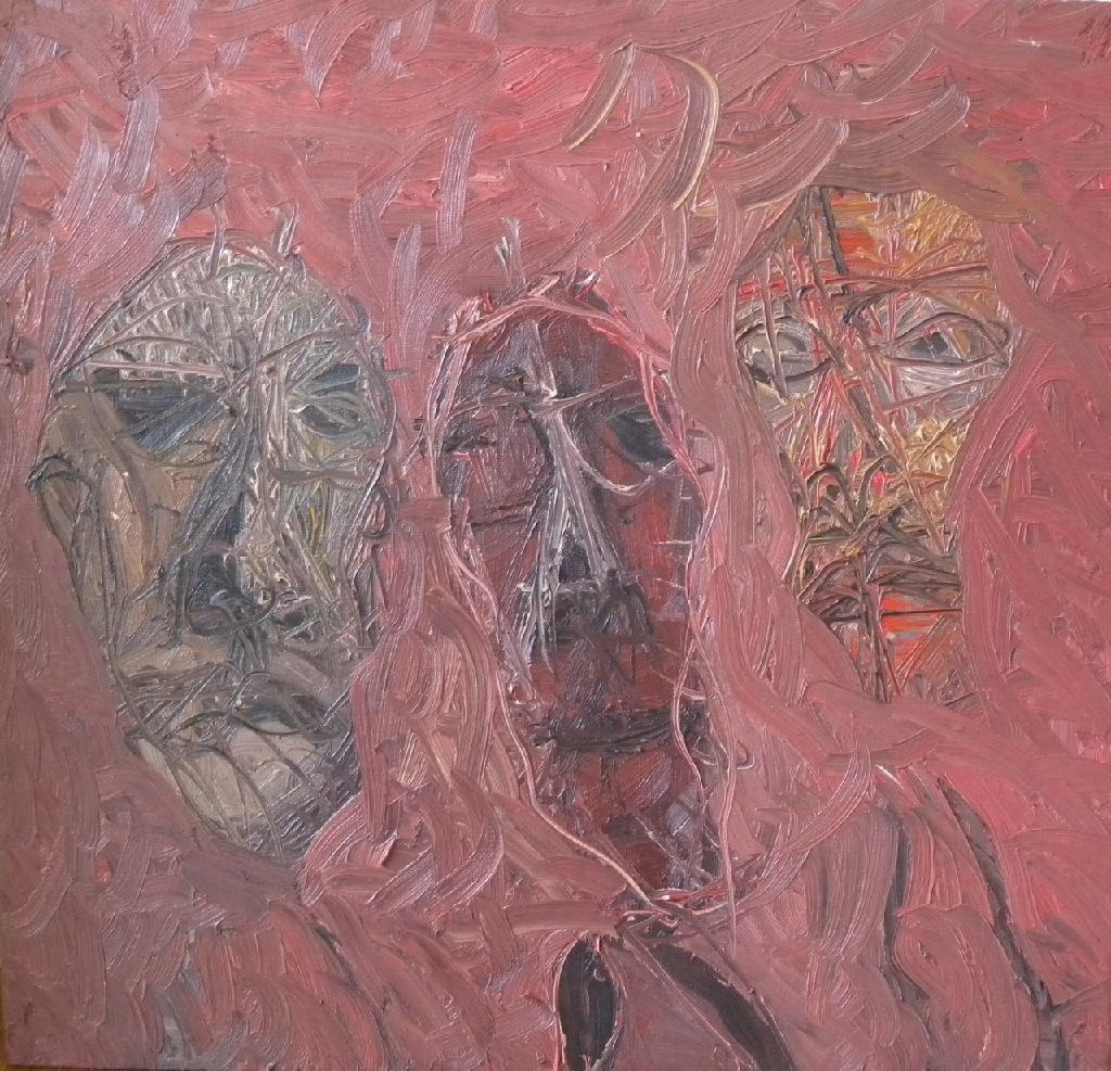 Triple portrait h.39cm x w.41cm