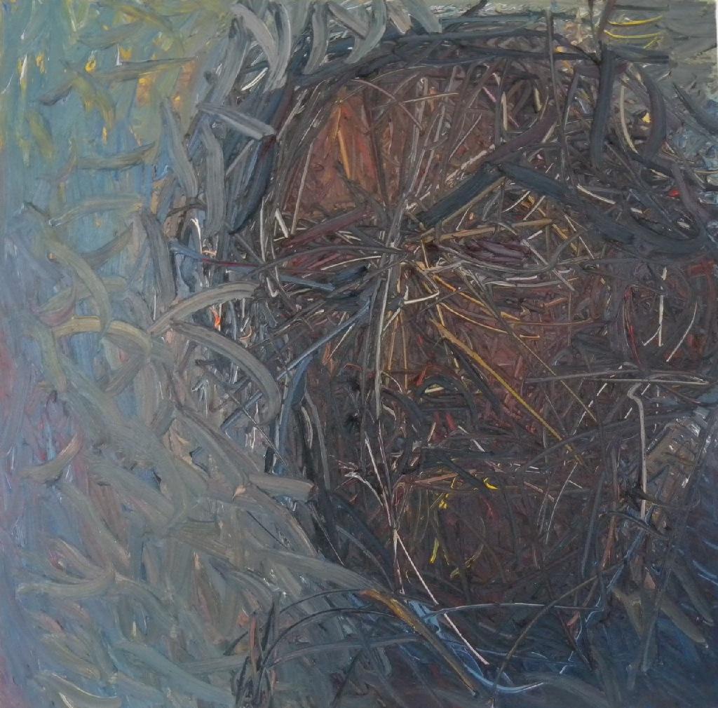 Expressionist self-portrait h.61cm x w.61cm