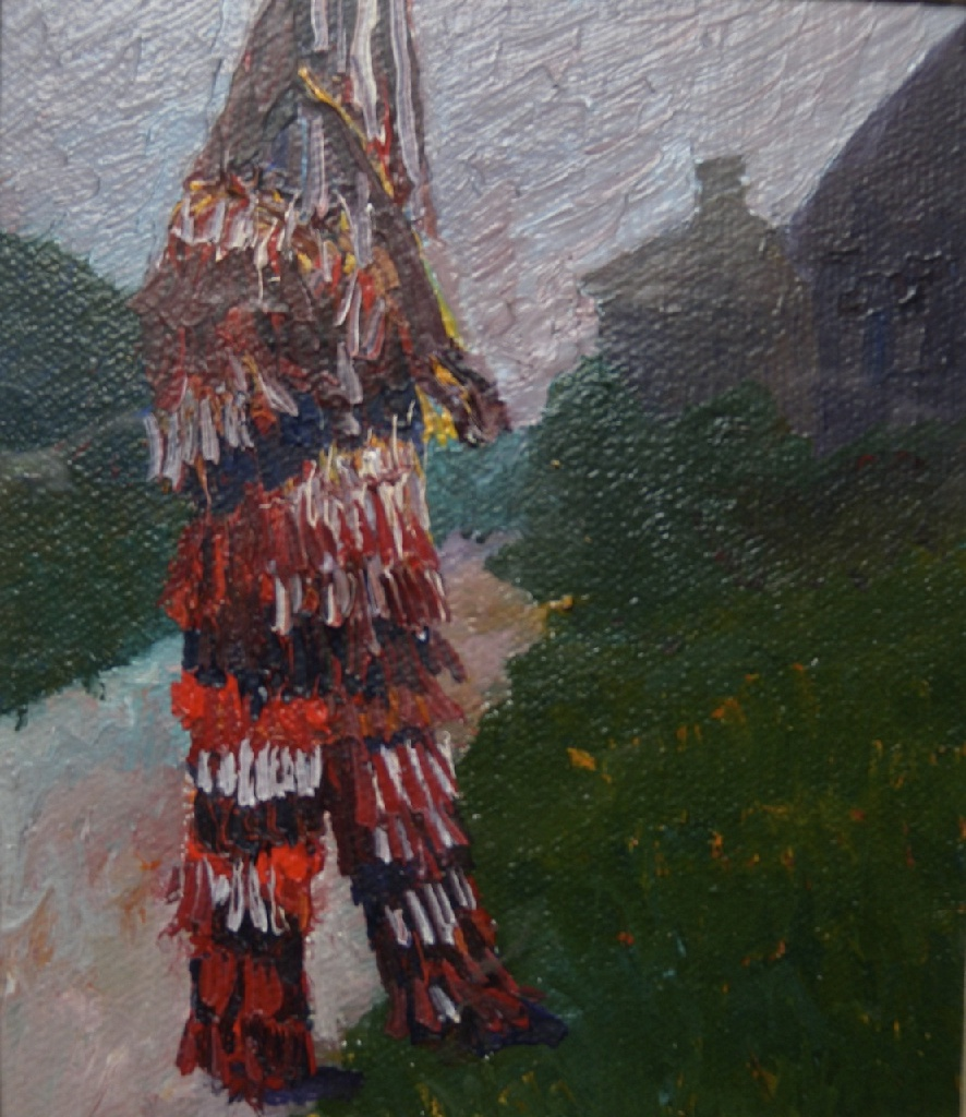 Mummer; oil on canvas