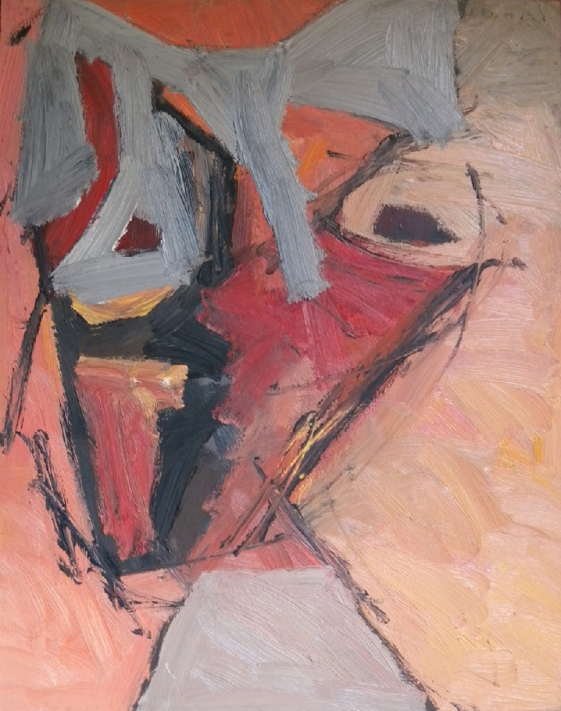 Cubist self-portrait h.42.3cm x w.34cm