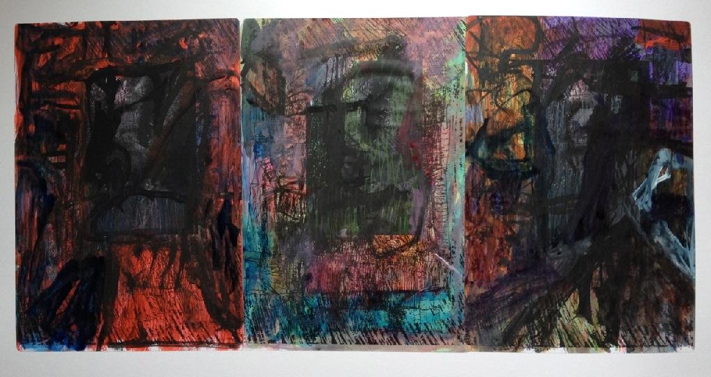 Portrait triptych h.59.3cm x w.84.1cm