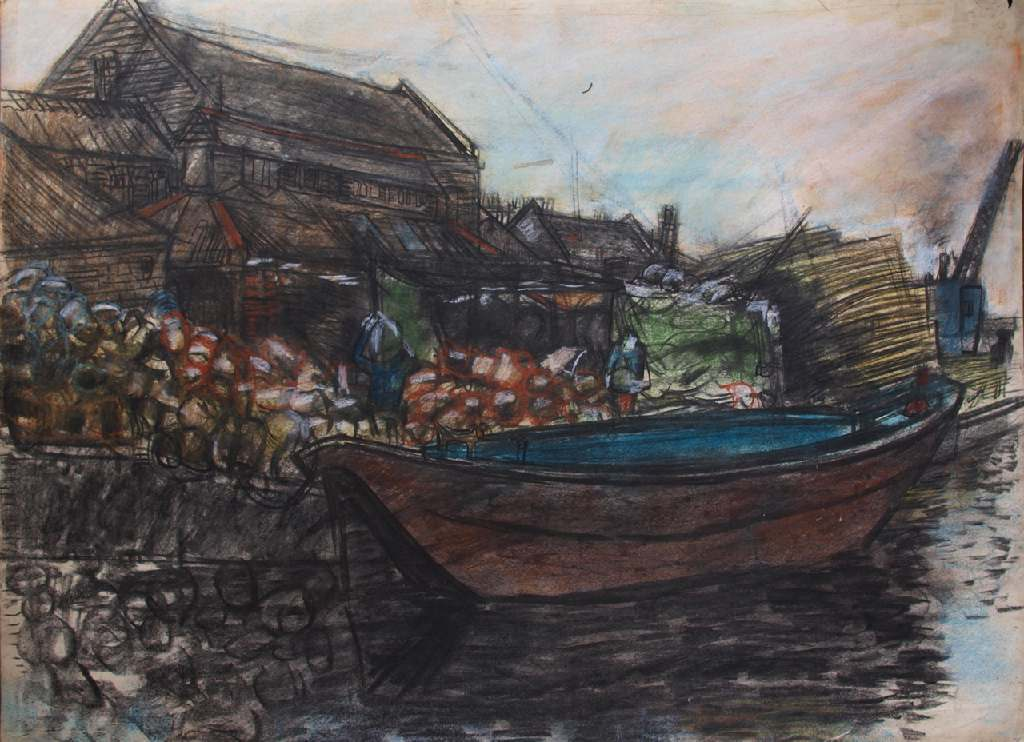 Lee Valley h.56cm x w. 76cm; crayon on paper