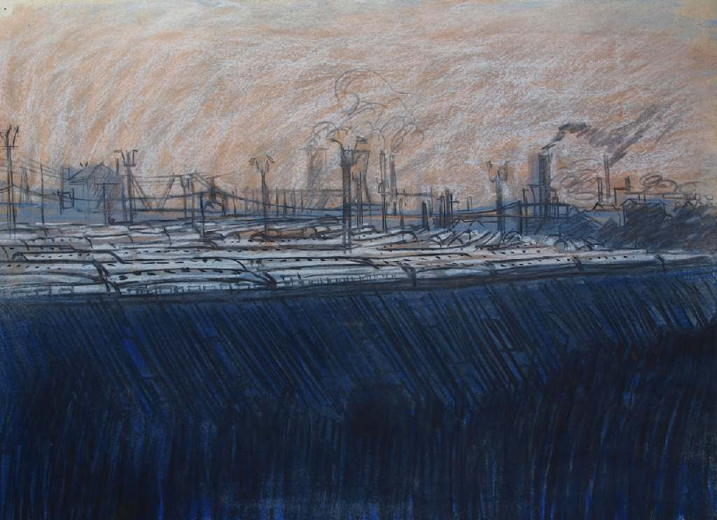 Lee Valley h.52cm x w. 76.3cm; crayon on paper