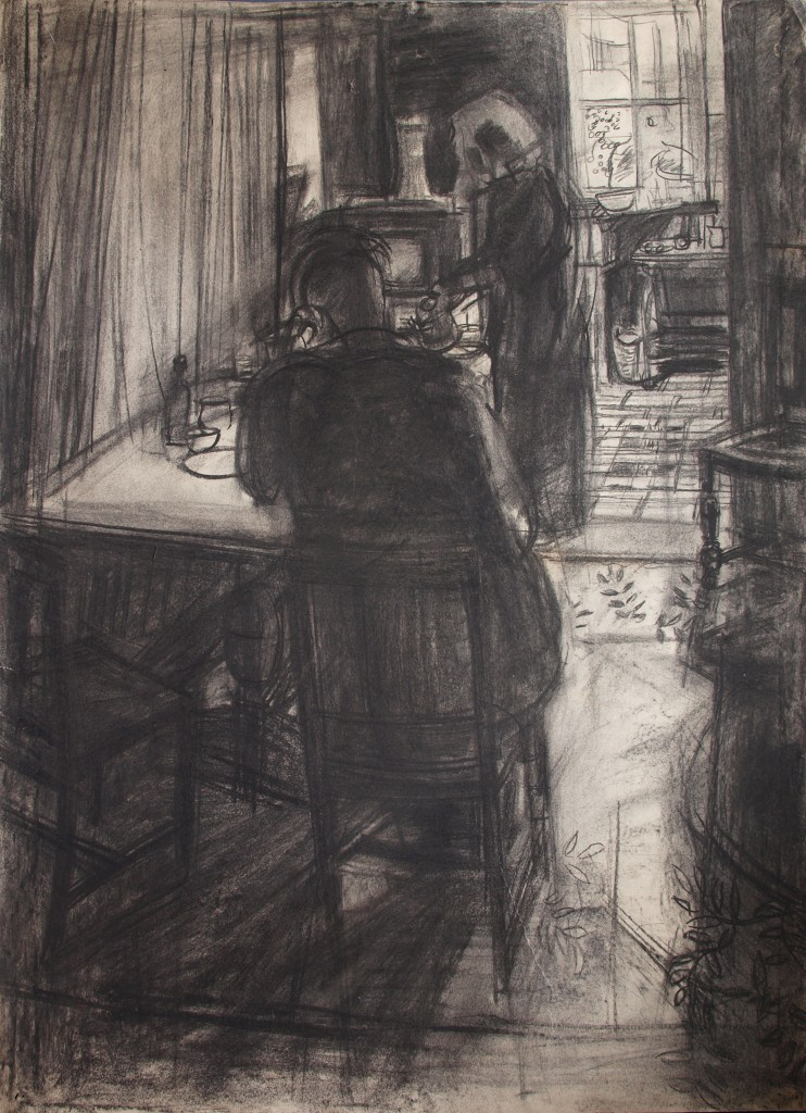 Sam and Anne h.76cm x w. 56cm; crayon on paper