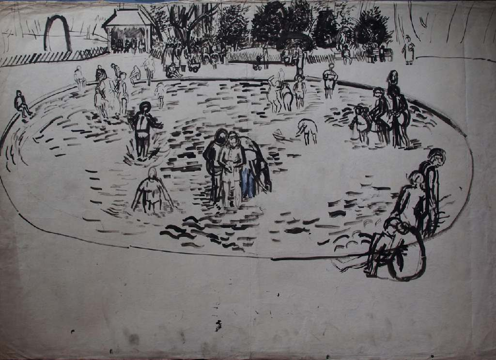 Victoria Park h.57.5cm x w. 88.5cm; ink on paper