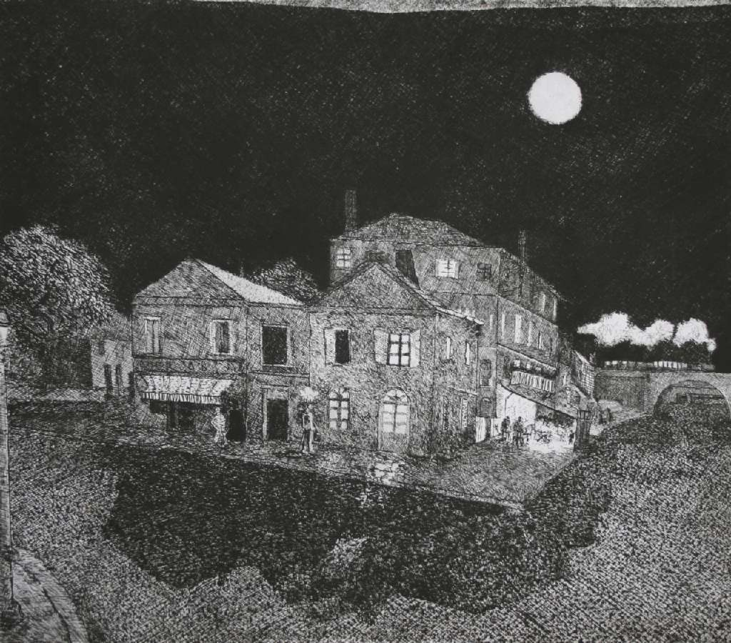 The Yellow House h.43.5cm x w.49.5cm, etching