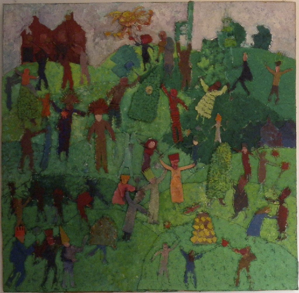 Jack-in-the-Green h.128cm x w.128cm; card relief and paint